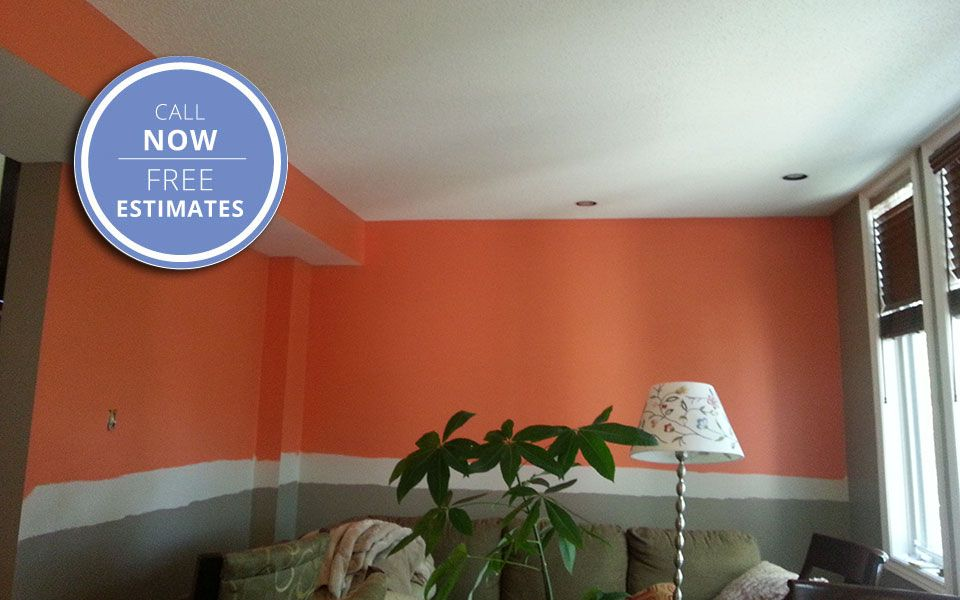 room in orange paint
